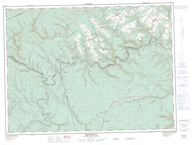 Menneval Topographic Paper Map 021O14 at 1:50,000 scale