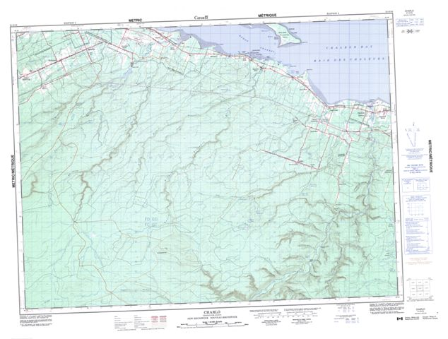 Charlo Topographic Paper Map 021O16 at 1:50,000 scale