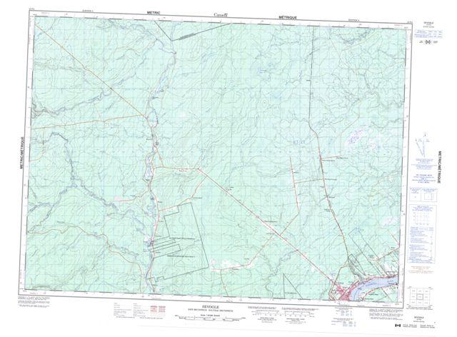 Sevogle Topographic Paper Map 021P04 at 1:50,000 scale