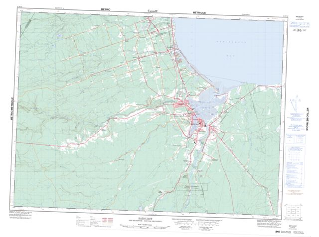 Bathurst Topographic Paper Map 021P12 at 1:50,000 scale