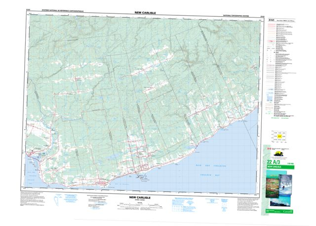 New Carlisle Topographic Paper Map 022A03 at 1:50,000 scale