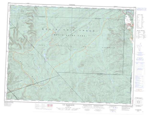 Lac Madeleine Topographic Paper Map 022A13 at 1:50,000 scale