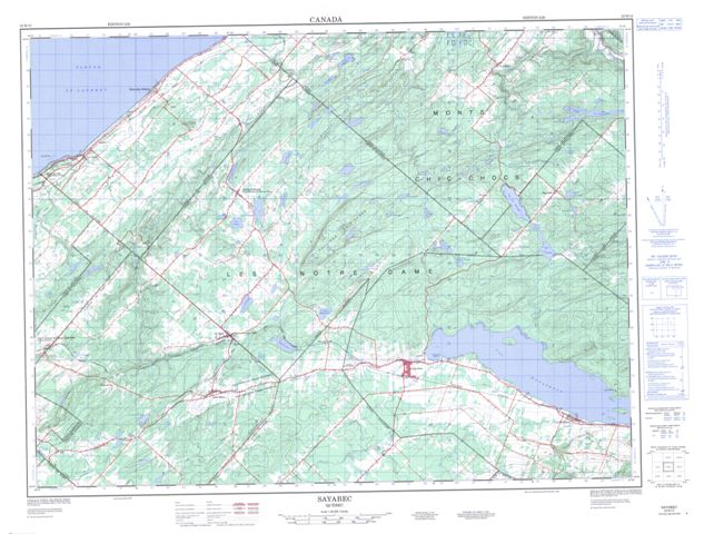 Sayabec Topographic Paper Map 022B12 at 1:50,000 scale