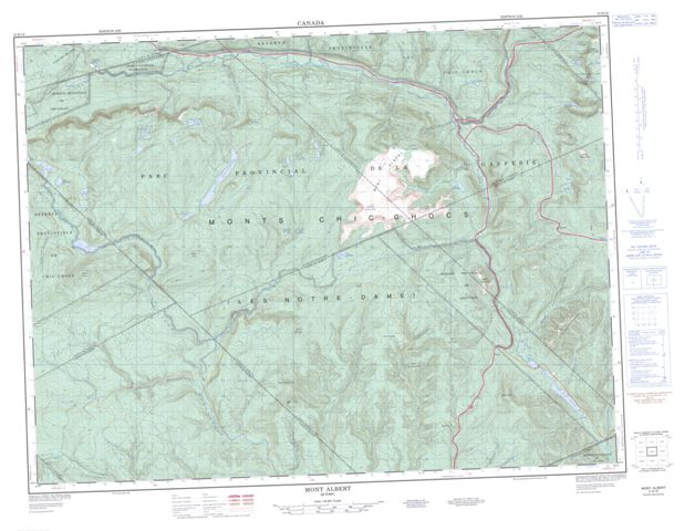 Mont Albert Topographic Paper Map 022B16 at 1:50,000 scale