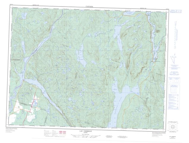 Lac Vermont QC Maps Online - Free Topographic Map Sheet 022D14 at 1 ...