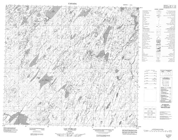 Lac Forcan Topographic Paper Map 024D01 at 1:50,000 scale