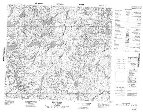 Lac Fremin Topographic Paper Map 024D03 at 1:50,000 scale
