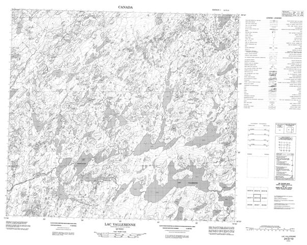 Lac Vallerenne Topographic Paper Map 024D10 at 1:50,000 scale