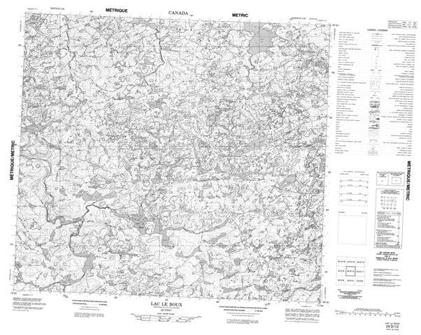 Lac Le Boux Topographic Paper Map 024D12 at 1:50,000 scale