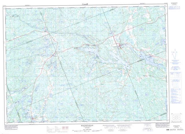 Magnetawan Topographic map 031E12 at 1:50,000 Scale
