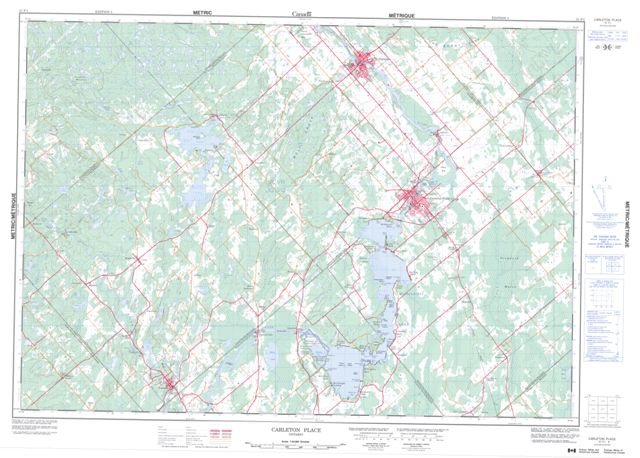 Carleton Place Topographic Paper Map 031F01 at 1:50,000 scale