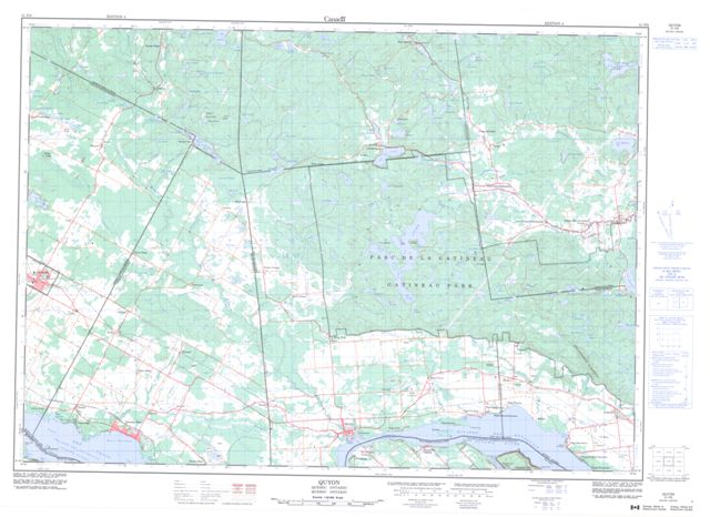 Quyon Topographic Paper Map 031F09 at 1:50,000 scale