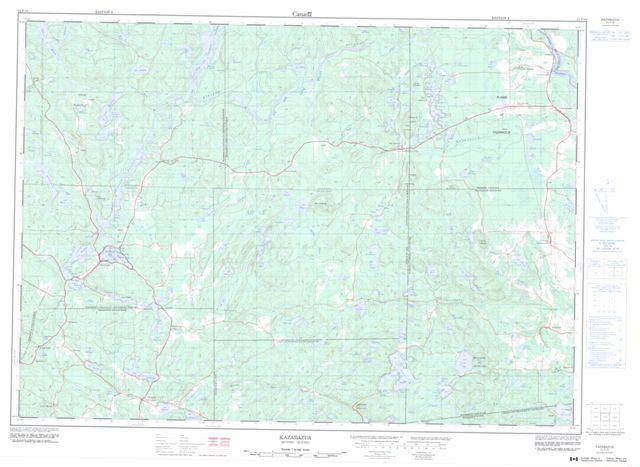 Kazabazua Topographic Paper Map 031F16 at 1:50,000 scale