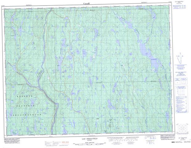 Lac Desautels Topographic Paper Map 032H06 at 1:50,000 scale