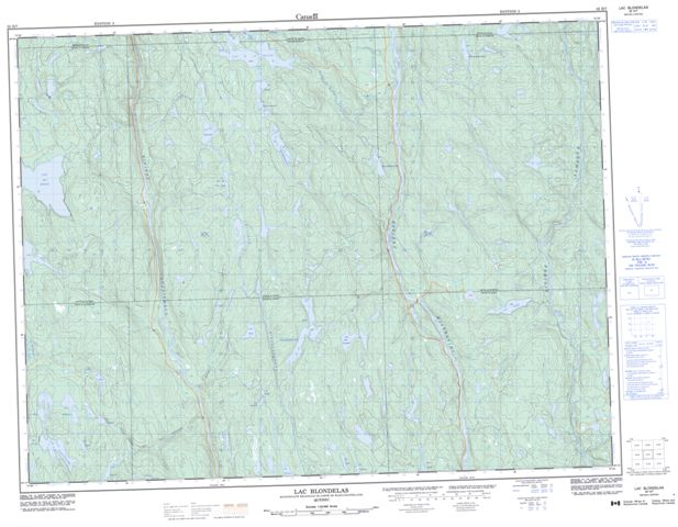 Lac Blondelas Topographic Paper Map 032H07 at 1:50,000 scale