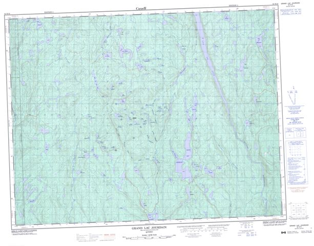 Grand Lac Jourdain Topographic Paper Map 032H16 at 1:50,000 scale