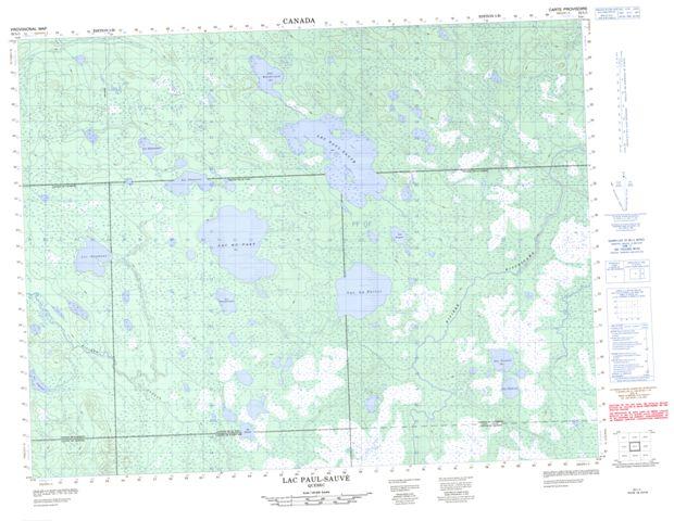 Lac Paul-Sauve Topographic Paper Map 032L01 at 1:50,000 scale