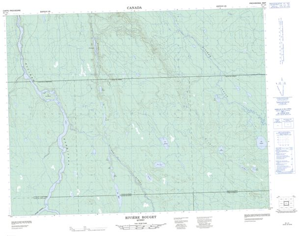 Riviere Rouget Topographic Paper Map 032L02 at 1:50,000 scale