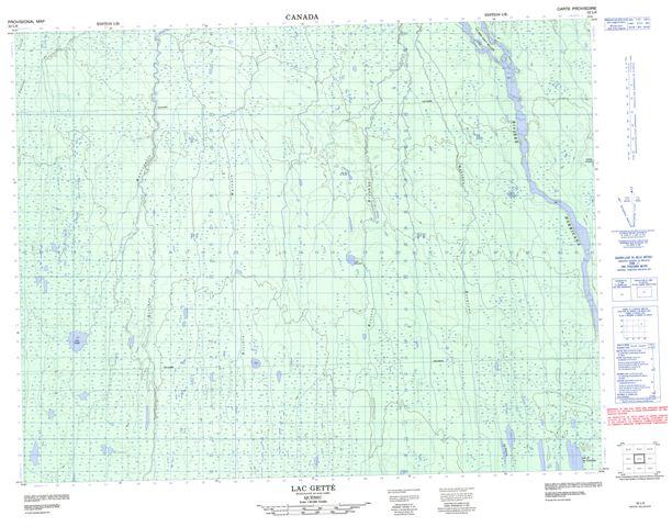 Lac Gette Topographic Paper Map 032L06 at 1:50,000 scale