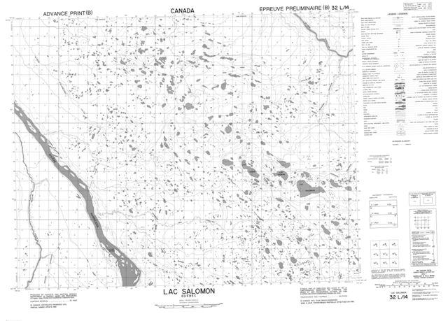 Lac Salomon Topographic Paper Map 032L14 at 1:50,000 scale