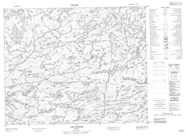 Lac Lavigne Topographic Paper Map 033A05 at 1:50,000 scale