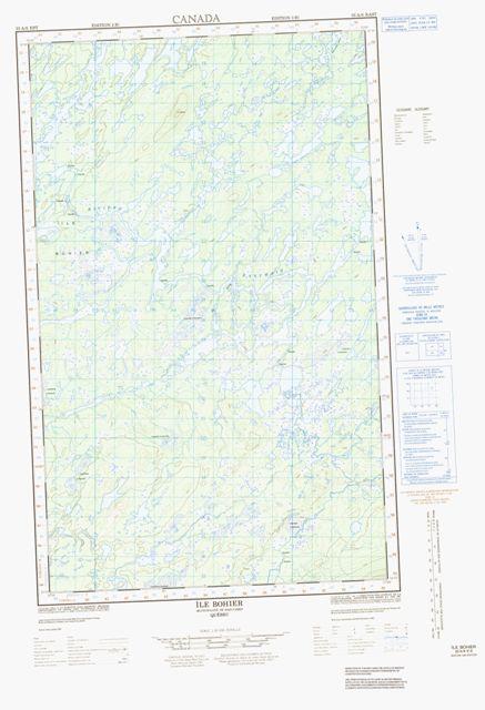 Ile Bohier Topographic Paper Map 033A08E at 1:50,000 scale