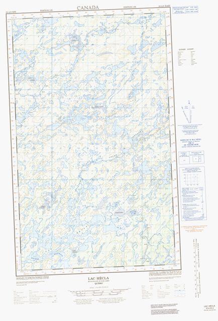 Lac Hécla Topographic Paper Map 033A09E at 1:50,000 scale