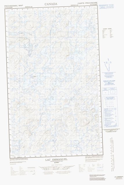 Lac Emmanuel Topographic Paper Map 033A16W at 1:50,000 scale