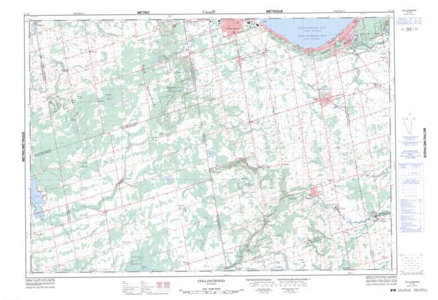Collingwood On Maps Online Free Topographic Map Sheet 041a08 At: Collingwood Ontario Canada Map At Infoasik.co