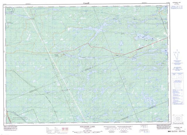 Noganosh Lake Topographic map 041H16 at 1:50,000 Scale