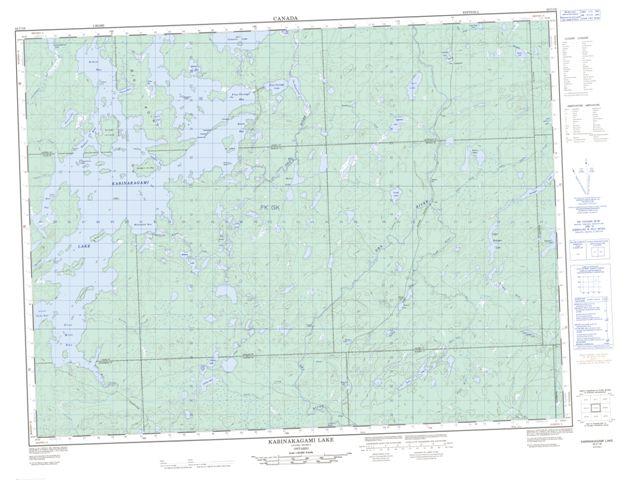 Kabinakagami Lake Topographic map 042C16 at 1:50,000 Scale