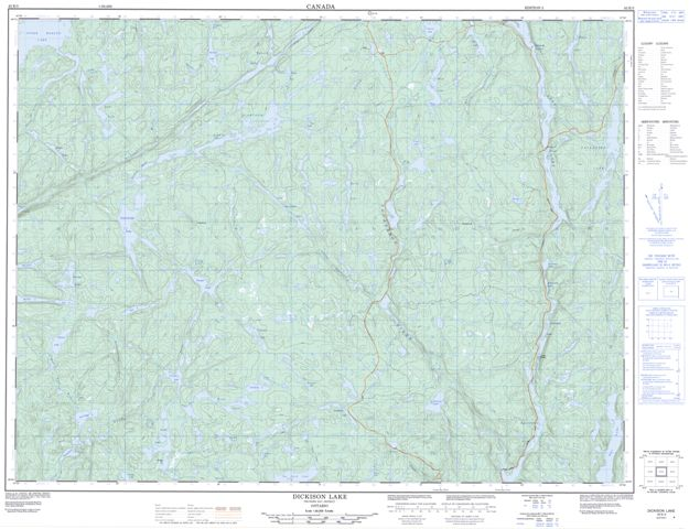 Dickison Lake Topographic Paper Map 042E03 at 1:50,000 scale