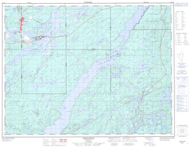 Geraldton Topographic Paper Map 042E10 at 1:50,000 scale