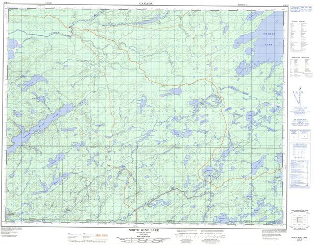 North Wind Lake Topographic Paper Map 042E13 at 1:50,000 scale