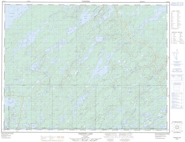 Treptow Lake Topographic Paper Map 042E14 at 1:50,000 scale
