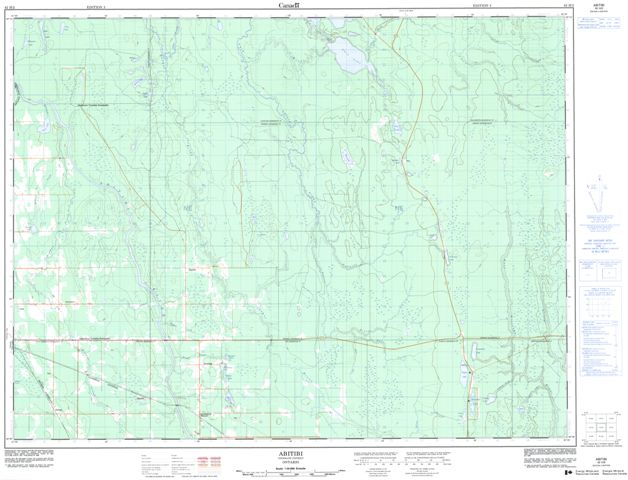 Abitibi Topographic Paper Map 042H02 at 1:50,000 scale