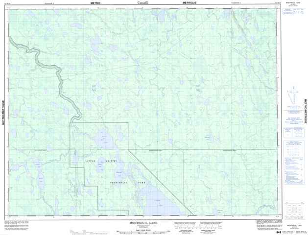 Montreuil Lake Topographic Paper Map 042H10 at 1:50,000 scale