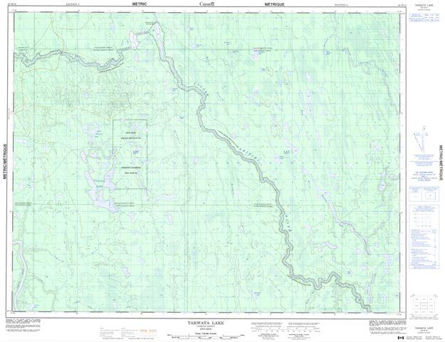 Takwata Lake Topographic Paper Map 042H14 at 1:50,000 scale