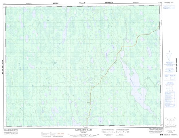 Lawagamau Lake Topographic Paper Map 042H16 at 1:50,000 scale