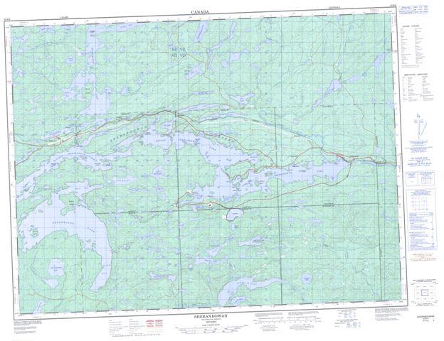 Shebandowan Topographic Paper Map 052B09 at 1:50,000 scale