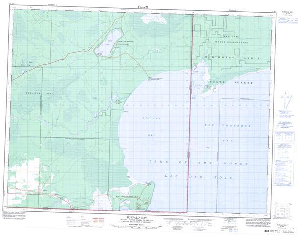 Buffalo Bay Topographic Paper Map 052E03 at 1:50,000 scale