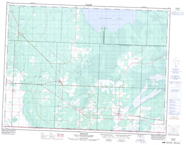 Sprague Topographic Paper Map 052E04 at 1:50,000 scale