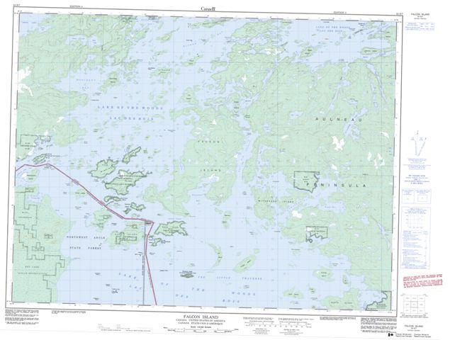 Falcon Island Topographic Paper Map 052E07 at 1:50,000 scale