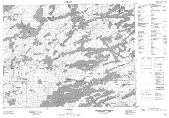 Hudson Topographic Paper Map 052K01 at 1:50,000 scale