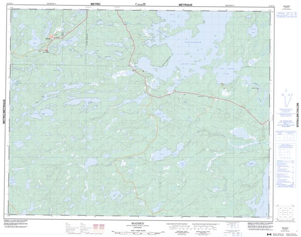 Madsen Topographic Paper Map 052K13 at 1:50,000 scale