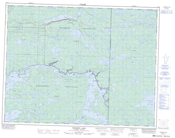 Ryerson Lake Topographic Paper Map 052L06 at 1:50,000 scale