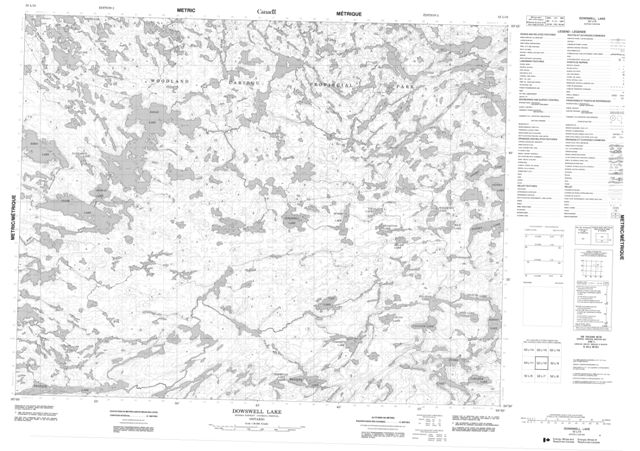 Dowswell Lake Topographic Paper Map 052L10 at 1:50,000 scale