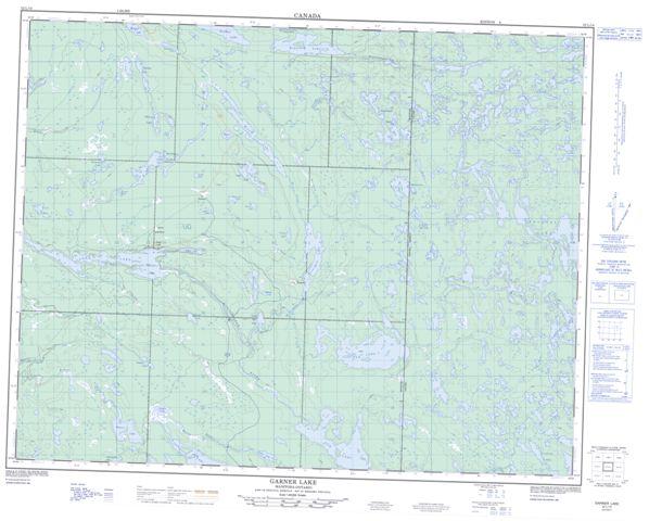 Garner Lake Topographic Paper Map 052L14 at 1:50,000 scale