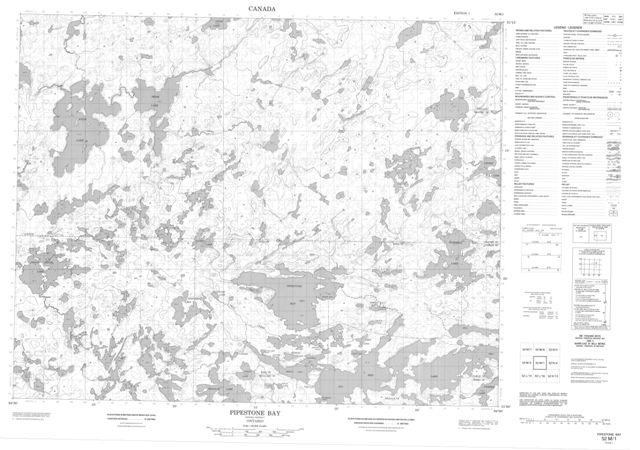 Pipestone Bay Topographic Paper Map 052M01 at 1:50,000 scale