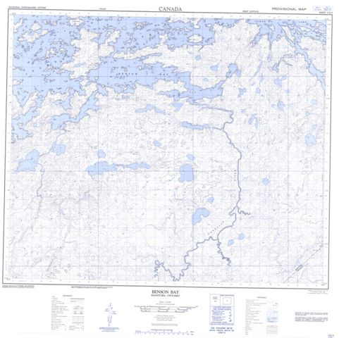 Benson Bay Topographic Paper Map 053E09 at 1:50,000 scale